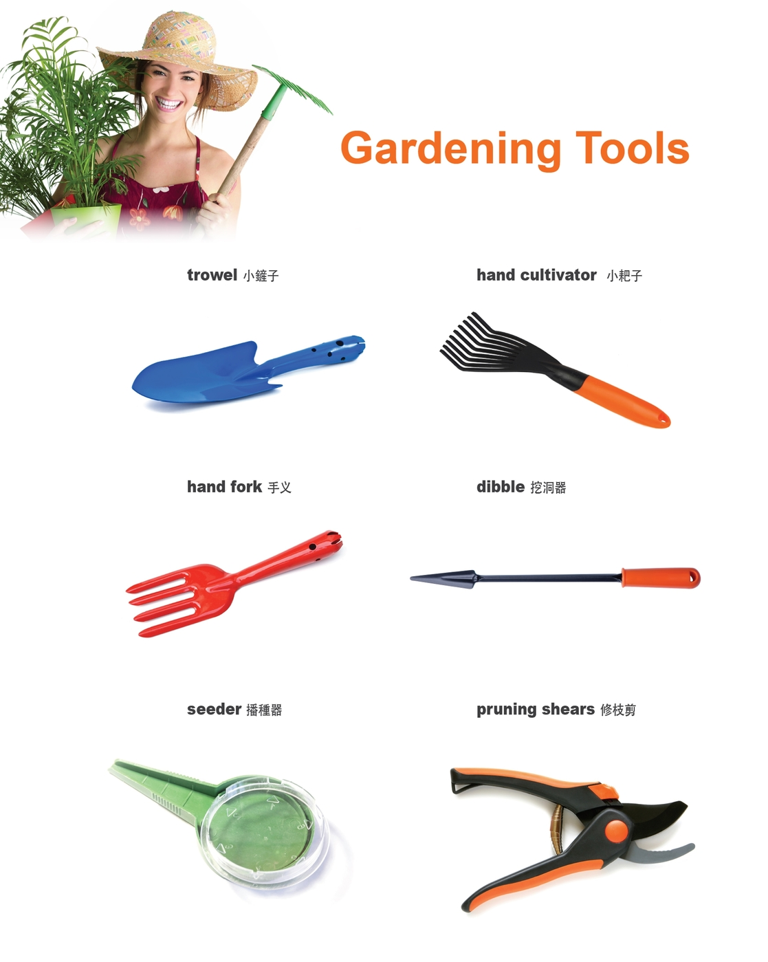 Vocabulary the english channel the english corner for Gardening tools vocabulary